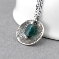 Contrast Necklace Emerald