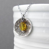 Contrast Necklace Citrine