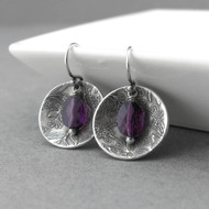 Contrast Earrings Amethyst