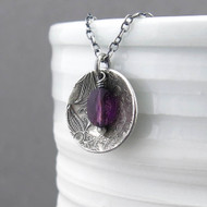 Contrast Necklace Amethyst