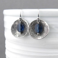 Sapphire Crystal Contrast Earrings