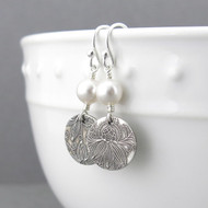 Tracey Earrings - Swarovski Pearl and Sterling Silver