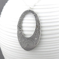 Boho Hoop Necklace - Sterling Silver