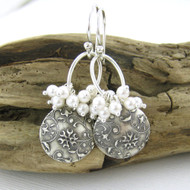 Beth Earrings No. 40 - Swarovski Pearl, FIne and Sterling Silver - As Seen On Cedar Cove
