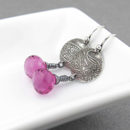 Kristen Earrings - Pink Tourmaline and Sterling Silver