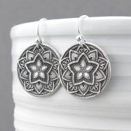 Five Point Flower Earrings