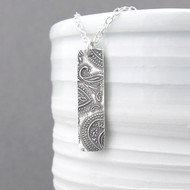 Bar Necklace - Dainty Paisley