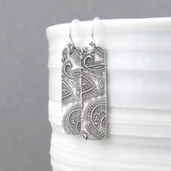 Bar Earrings - Dainty Paisley