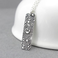 Bar Necklace - Climbing Roses