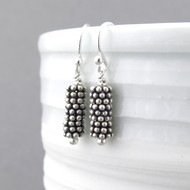 Beaded Bar Earrings - Petite Drops