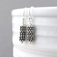 Beaded Bar Earrings - Petite Drops