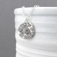 Romantic Flower and Vines Necklace - Unique Petite