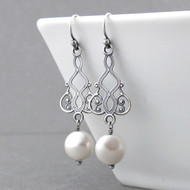 Moroccan Dreams Earrings - Pearl