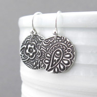 Funky Paisley Earrings - Unique Petite