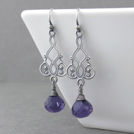 Moroccan Dreams Earrings - Amethyst Quartz and Sterling Silver
