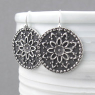 Dahlia Mandala Earrings