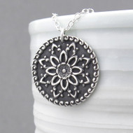 Dahlia Mandala Necklace