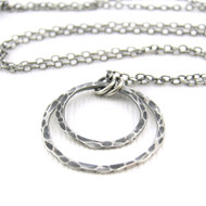 Shimmer Layers Necklace - Oxidized
