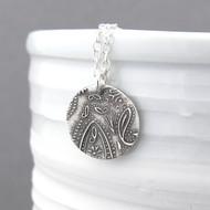 Dainty Paisley Necklace - Unique Petite