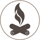 gasifying wood icon