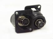 EH Series 4 Pin SVHS Female Feedthru, Black