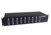 Mytek Private Q2 12 Channel Studio Headphone System Distribution Rack