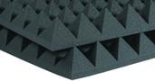 """Auralex 6x 4"""" x 24"""" x 24"""" Studiofoam Pyramid, Charcoal"""