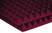 "Auralex 6x 4"" x 24"" x 24"" Studiofoam Pyramid, Burgundy"