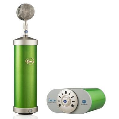 Bottle Microphone with Mic Locker / PSU in Glassy Green