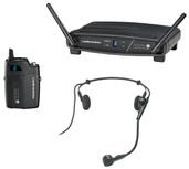 Audio-Technica System-10 ATW-R1100 Receiver, ATW-T1001 UniPak Transmitter System & PRO 8HEcW Headworn Mic