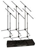 Ultimate Support JS-MCFB6PK Tripod Mic Stand Bundle - 6-Pack