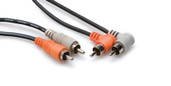 Hosa Stereo Interconnect Dual RCA to Dual Right-angle RCA