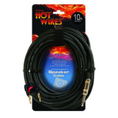On-Stage Stands 14AWG Speaker Cable (10', Banana-QTR)