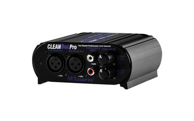 Art Line Level Converter : Art pro audio cleanbox dual channel level converter