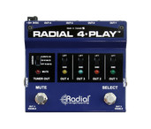 Radial Engineering 4-Play™ Multi-Output DI Box - Top View