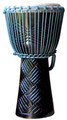 "Turquoise Ebony Weave Pro Djembe by Freedom Drums: 20"" x 11"""