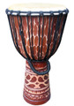 "Deep-Carved Djembe-Antique Tan - 24"" x 13"""