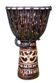 "Antique Chocolate Deep Carved Djembe 24"" x 13"""