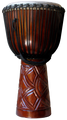 "Mahogany Sunrise Pro Djembe by Freedom Drums: 26"" x 15"""