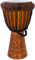 "Antique Gold Deep Carved Fur Djembe 28"" x 14"""