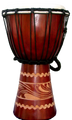 "Kalimantan Djembe-Red: 16"" x 8"""