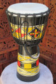 "Painted Djembe Drum: 20"" x 10"""