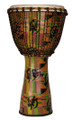 "Kente Fiberglass Djembe with Synthetic FiberSkin Head by Freedom Drums - 26"" x 15"""