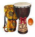 20x10 Adinkra Symbol Djembe Package Deal