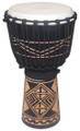 "Diamond Line Carved Djembe 24"" x 12"""