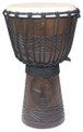 "Tan Tribal Faces Carved Djembe 24"" x 12"""