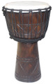 "Diamond Line Carved Djembe: 20"" x 11"""