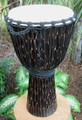 "Tree Bark Djembe: 25"" x 13"""