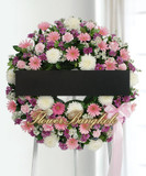 Pink Flower Wreath