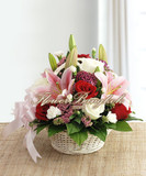 Lilies &amp; Roses Basket